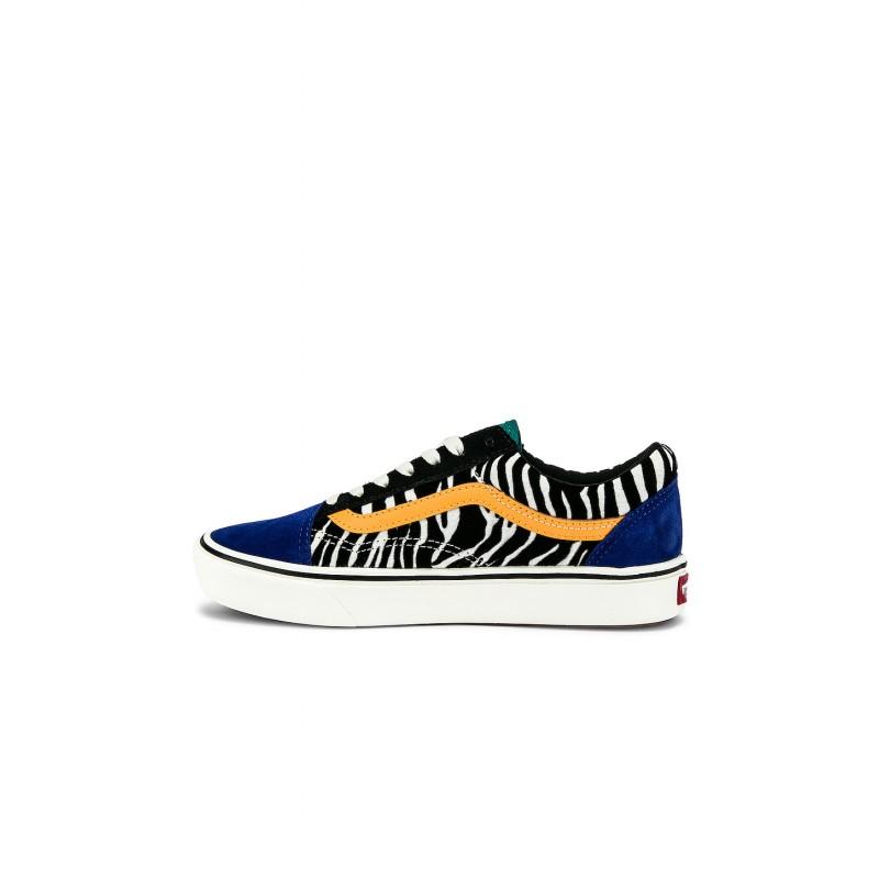Chaussures Vans Old Skool Comfycush Zebra Tidepool