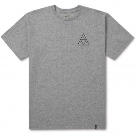 T-SHIRT HUF ESSENTIALS TRIPLE TRIANGLE SS - GREY HEATHER