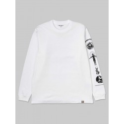 T-SHIRT CARHARTT WIP BELIEVE LS - WHITE BLACK