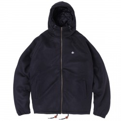 VESTE MAGENTA HOODED JACKET - BLACK