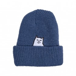 BONNET RIPNDIP RIBBED BEANIE - BLUE