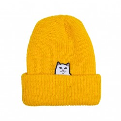 BONNET RIPNDIP RIBBED BEANIE - GOLD