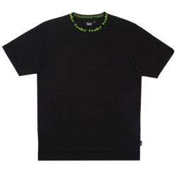 T-SHIRT TEALER COLLAR BLACK - BLACK GREEN