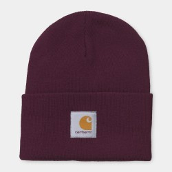 BONNET CARHARTT ACRYLIC WATCH HAT - MERLOT
