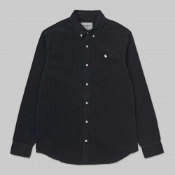 CHEMISE CARHARTT MADISON CORD LS - DARK NAVY WHITE