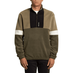 SWEAT VOLCOM TREKKER SHERPA CREW - DARK OLIVIE