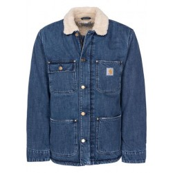 VESTE CARHARTT WIP FAIRMOUNT - COTTON BLUE DARK STONE WASHED