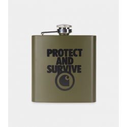 WHISKEY FLASK CARHARTT WIP STEEL PROTECT SURVIVE - CYPRESS