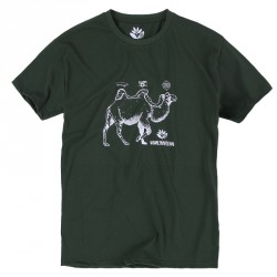 T-SHIRT MAGENTA CAMEL TEE - FORREST GREEN