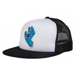 CASQUETTE SANTA CRUZ CLASSIC HAND MESH CAP - WHITE BLACK