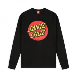T-SHIRT SANTA CRUZ CLASSIC DOT LS - BLACK