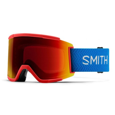 MASQUE SMITH SQUAD XL RISE BLOCK - CHROMAPOP SUN RED MIRROR