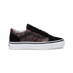 CHAUSSURES VANS OLD SKOOL - LEOPARD MESH BLACK