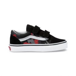 CHAUSSURE VANS OLD SCHOOL V CAMO BLACK/RACING RED