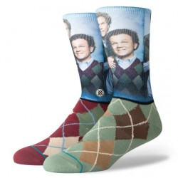 CHAUSSETTES STANCE STEP BROTHERS BLUE