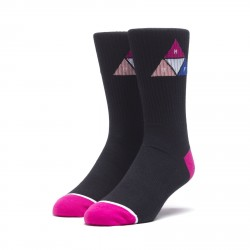 CHAUSSETTES HUF PRISM TRIANGLE - BLACK