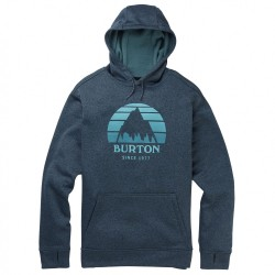 SWEAT BURTON OAK HOOD - SUNSET DRESS BLUE HEATHER
