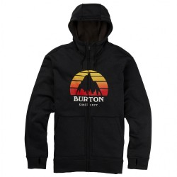 SWEAT BURTON OAK HOOD ZIP - SUNSET TRUE BLACK HEATHER