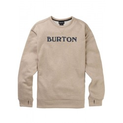 SWEAT BURTON OAK CREW PLAZA - TAUPE HEATHER