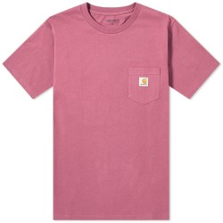 T-SHIRT CARHARTT WIP POCKET - DUSTY FUCHSIA