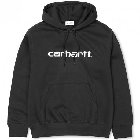 SWEAT CARHARTT WIP HOODED - BLACK WHITE