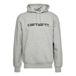 SWEAT CARHARTT WIP HOODED - GREY HEATHER BLACK
