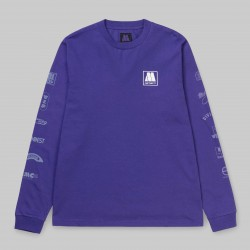 T-SHIRT CARHARTT WIP X MOTOWN SUBLABELS LS - PRISM VIOLET