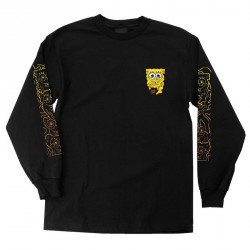 T-SHIRT SANTA CRUZ SPONGEBOB MELT LS - BLACK