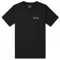 T-SHIRT POLAR SKATE CO GARDEN FILL LOGO TEE - BLACK