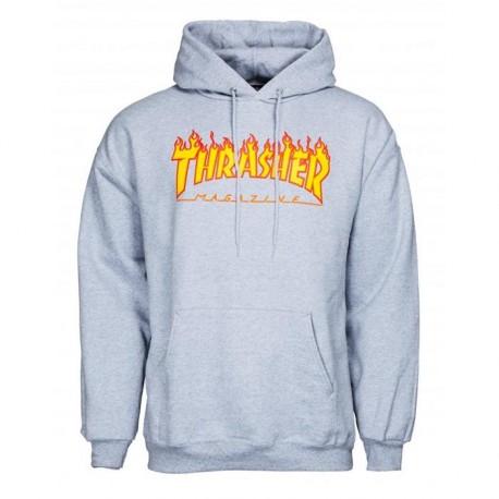 SWEAT THRASHER HOOD FLAME - GREY