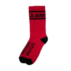 CHAUSSETTES JACKER LIP SLIDES - RED