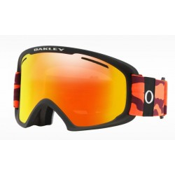 MASQUE OAKLEY O FRAME 2.0 PRO XL - NEON ORANGE CAMO FIRE IRIDIUM PERSIMMON