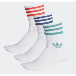 CHAUSSETTES ADIDAS MID CUT CREW PACK - WHITE