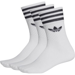 CHAUSSETTES ADIDAS MID CUT CREW PACK - WHITE BLACK
