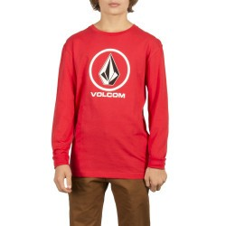 T-SHIRT VOLCOM CRISP STONE BSC LS KID - ENGINE RED