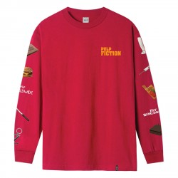 T-SHIRT HUF PULP FICTION PROPS LS - RED