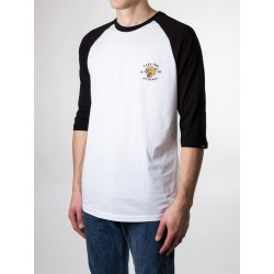 T-SHIRT VANS MN GROWLER RAGLAN - WHITE BLACK