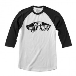 T-SHIRT VANS BOY OTW RAGLAN - WHITE BLACK