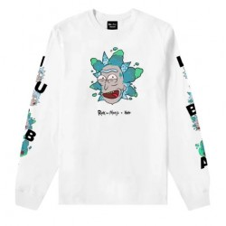 T-SHIRT TEALER X RICK ET MORTY RICK CLOUD LS -