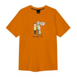 T-SHIRT TEALER X RICK & MORTY WORLD - ORANGE