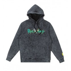 SWEAT TEALER X RICK & MORTY HOODIE LOGO - STONE WASH
