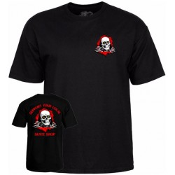 T-SHIRT POWELL PERALTA SUPPORT YOUR LOCAL SKATESHOP - BLACK