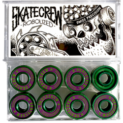 ROULEMENTS SKATECREW ROBOLIZED SWISS - GREEN