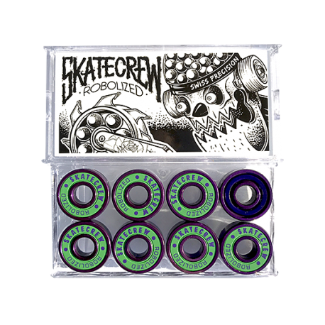 ROULEMENTS SKATECREW ROBOLIZED SWISS - PURPLE