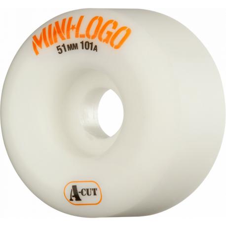 ROUES MINI LOGO WHEELS (JEU DE 4) 51MM A-CUT 101A WHITE