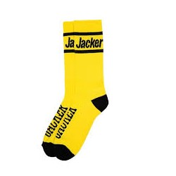 CHAUSSETTES JACKER AFTER LOGO - YELLOW