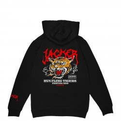 SWEAT JACKER TIGERS MOB HOODIE - BLACK