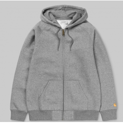 VESTE CARHARTT HOODED CHASE JACKET - GREY HEATHER GOLD