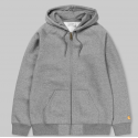 SWEAT CARHARTT WIP HOODED CHASE JACKET - GREY HEATHER GOLD