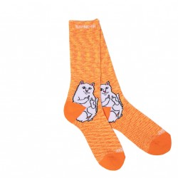 CHAUSSETTES RIPNDIP LORD NERMAL - ORANGE SPECKLE